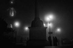 Di notte la nebbia è fitta e piena di luce, e talvolta di voci (Erin Bow) (Angelo Petrozza) Tags: montescaglioso blackandwhite biancoenero bw basilicata sanrocco chiesa church angelopetrozza pentaxk70 nebbia fog light luce