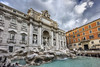 Trevi Fountain (Thomas Rotte) Tags: trevi fountain rome italy fontana di azura blue sky pont sculpture architecture