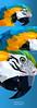 Ilustração Arara Canindé Lowpolygon (Leandro Demetrius) Tags: ilustração illustration lowpolygon leandro demetrius vetor illustrator adobe vector