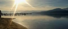 okanagan lake (RyeRye <3) Tags: lakeokanagan water lake mountain beach valley kelownabc