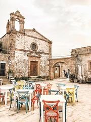 Perfect day in Marzamemi (dranto84) Tags: italia siracusa sicilia sedie church winter sicily marzamemi