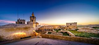 sunset over cittadella