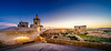 sunset over cittadella (K.H.Reichert [ not explored ]) Tags: wideangle victoria bluehour citadelle church walls sonnenuntergang malta zitadelle sunset kirche gozo