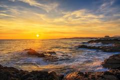 Sunset from Elie Beach (MilesGrayPhotography (AnimalsBeforeHumans)) Tags: 1635 fe1635mm sonyfe1635mmf4zaoss a7ii britain beach dusk europe evening elie eliebeach fe f4 fife glow golden goldenhour haze iconic ilce7m2 kingdomoffife landscape lens landscapephotography nighfall outdoors oss photography tranquil reflections rocks rays scotland sky scenic skyline sunset sunlight sunshine sonya7ii sony scottish scottishlandscapephotography sonyflickraward sea seascape seaside town twilight uk unitedkingdom village waterscape wide water winter wideangle zeiss