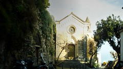Viale Pasitea (Raúl Alejandro Rodríguez) Tags: iglesia church árboles trees escaleras stairs escalinata stairway calle street viale pasitea positano campania italia italy