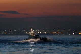 Evening Return of the Pilot Boat