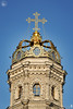 Golden Crown With Cross of Dubrovitsy Church Against Blue Sky (Guide, driver and photographer in Moscow, Russia) Tags: catholicchurches churchofthesign crownedchurch dubrovitsy europeanbaroque goldencrown moscow orthodoxchurches russia churches cathedrals churchdomes cupolas crosses goldendomes religion ru