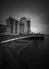Wharf (Photo Lab by Ross Farnham) Tags: london bw mono thames landscape wharf le ross farnham sony a7rii 1635mm zeiss f4 lee filters