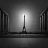 Enlightenment I - Eiffel Tower Paris (Julia-Anna Gospodarou) Tags: juliaannagospodarou parisphotography parisarchitecture eiffeltower blackandwhite blackandwhitefineartphotography motionblur longexposure envisionography photographydrawing phtd formatthitech 16stopndfilter canon24mmtselens tiltshift