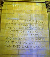 Sydney. Sandstone carved saying in the Public Library of NSW. Added in the 1939 to 1943 additions. (denisbin) Tags: sydney publiclibraryofnsw saying scripture sandstone books literature adage