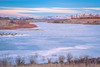 Seagull Bay (Cramer Imaging) Tags: photo photography photograph outdoor outdoors nature natural landscape scenic scenery sky cloud clouds blue winter wintertime sunset idaho seagullbay americanfalls americanfallsreservoir ice cold dock frozen icy
