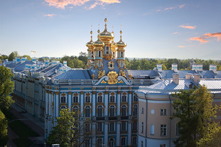 Catherine palace. Sunset.