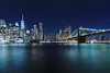 New York (pawel.suchecki) Tags: newyork brooklyn brooklynbridge manhattan city bridge cityscape water river reflection light night longexposure usa unitedstates nyc colour color
