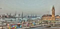 Hamburg Impression (ralfszepanzik) Tags: hamburg hafenpromenade harbour hafen landungsbrücken werft blohmvoss hdr city
