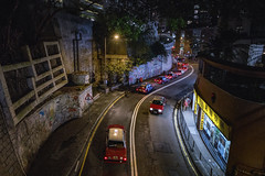 Taxi Cab (thecrapone) Tags: hongkong city night street taxi road g85 818mm