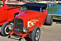 Red hot rod (thomasgorman1) Tags: truck hotrod auto vehicle antique nikon water az arizona parker show cars