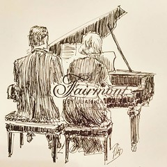 Piano (Fotero) Tags: ifttt instagram piano concierto musica cena usk insitu urbansketch urbansketcher urbansketching tinta dibujo fromthelive boligrafo