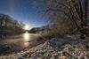Sunsrise and Snowmelt (gimmeocean) Tags: sunrise sun lake miltonlake rahway newjersey nj flare