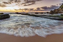 Turimetta Beach (darrinwalden Photography) Tags: beach turimetta water waves canon wash rocks sunrise sand australia sydney clouds wet ocean
