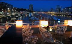 Le port des yachts et la Meuse depuis la Capitainerie, Liège, Belgium (claude lina) Tags: claudelina belgium belgique belgïe liège meuse fleuve lacapitainerie port portdesyachtsdeliège chaises bateaux yachts