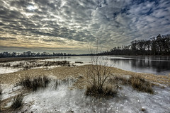 to feel humble (wimvandemeerendonk, back home) Tags: ice leersum dutch clouds contrast cloud landscape light lake nature netherlands nederland outdoors outdoor panorama provincieutrecht reflection sony sky sun scenic thenetherlands ultrawide utrecht wimvandem water tree