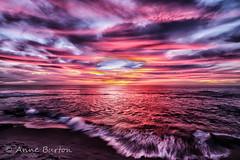 Sea of Fire (xxKnuckles) Tags: california lajolla sandiego usa beach bluehour coast colourful landscapephotography longexposure sea shore sunset water waves ~colour