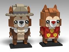Chip & Dale, Rescue Rangers BrickHeadz (headzsets) Tags: lego legomocs legomoc legophotography afol moc disney disneyafternoons chipanddale chipanddalerescuerangers rescuerangers gadget chipmunk brickheadz legobrickheadz