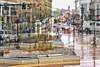 Rain Rain (mgstanton) Tags: framingham downtown rain weather traffic doubleexposure composite metrowest newengland street