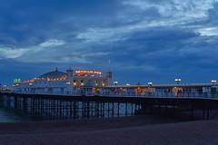Brighton Pier (michaelasss) Tags: brighton pier hove sussex beach blue hour twilight dusk lights