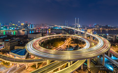 南浦大桥 Nanpu Bridge | Shanghai 上海 (Wei Kuan Tay) Tags: nanpubridge shanghai puxi circularbridge acrossthebund huangpuriver famousbridge 上海夜景 laowa12mm pudong 南浦大桥 浦东 浦西 上海 夜上海