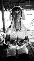 Long Neck Karen (danieljoshuago) Tags: long neck karen chiang rai thailand travel tribe ethnic burmese blackwhite