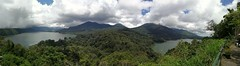 Twin lake in Bali. Attempting panorama...