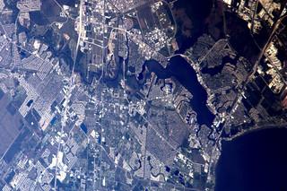 Clearlake region (NASA/JSC at top centre), Texas, USA