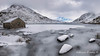 Icy Lake Snowdonia (Adrian Evans Photography) Tags: llynogwen ogwenlake landscape winter welshmountain welshlandscape landmark a5 icy outdoor tryfanmountain water wales snowcapped ogwenvalley penyrolewen snowdonianationalpark snowdonia snowfall march uk adrianevans northwales tryfan sky snow panorama lake clouds ice