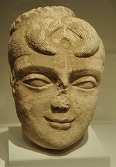 Head of a female deity, Pakistan, or Afghanistan, Gandharan region, 4th/6th century, stucco with traces of pigment, Chicago Art Institute, Chicago, Illinois, USA