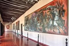 The conquest (Chemose) Tags: mexico mexique yucatán yucatan valladolid palaciomunicipal palaismunicipal municipalpalace painting peinture mural conquistadores conquistadors hdr canon eos 7d mars