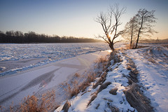 River in March (xkolba) Tags: ice frost march floe frozen bug river tree sunrise outdoor landscape podlasie canoneos5dmkii riverbank winter nature
