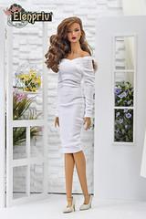 Cute white velvet dress (elenpriv) Tags: decisive itbe 16inch 16fashion fr16 fashionroyalty integrity toys jason wu doll elenpriv elena peredreeva spring melody collection white velvet dress