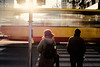 breeze (ewitsoe) Tags: tram motion sun sunset pedestrians waiting tocross cityscape canon eos 50mm 6dii movement rush race traffic urban life living redhair man woman warsaw warszawa poland europe