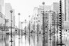 Paris, La Défense. Sculptures de Takis (Claude Maire) Tags: ladefense paris france bassin pool takis water eau reflets reflection sculpture art arche