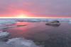 unfazed (phatwhistle) Tags: leelanau winter ice frozen nature outside rocks michigan northernmichigan nikon tokina wideangle sun sunset purple reflection greatlakes leelanaustatepark seascape landscape pink lakemichigan