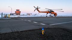 Villeneuve ATC + Air Crane (WherezJeff) Tags: erickson n163ac villeneuve airport dawn fog morning sikorsky skycrane calahoo alberta canada czvl bubba d850 tiltshift s64f helicopter