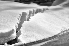 Schneeschmelze (Ernst_P.) Tags: aut inzing tirol inn fluss innufer ufer winter schnee monochrome österreich sw bw samyang walimex 135mm f20 snow nieve neige hiver invierno tyrol austria autriche