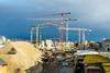 Special action: shunter and cranes (1/2) (jaeschol) Tags: dieselhydraulischelokomotive eisenbahn europa hardbruecke hardbrücke kantonzürich kontinent kreis4 kreis5 lokomotive pjz rangieren schweiz stadtzürich suisse switzerland tm232 tm232126 transport chemindefer railroad railway