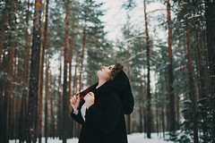 forest wanderer (Maria Nenenko) Tags: idea concept conceptual marinino marininoart fineart art portrait model girl woman best 2018 forest nature winter cold wanderer creature explore surgut russia