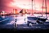 Sunset light (Maria Eklind) Tags: stilllife reflection limhamn building malmö sunset pink himmel spegling sky sunsetlight solnedgång ön sweden skånelän sverige se