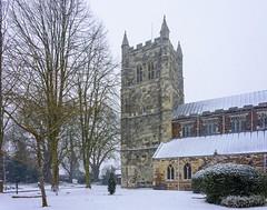 Wimborne Minster, Dorset - Big Freeze of 2018 (JackPeasePhotography) Tags: church architecture snow dorset nikon march freeze minster bournemouth echo