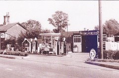 BP Shell and National - A12 Marlesford, Suffolk early 1960's (christopherbarker13) Tags: bp shell national petrolstation garage marlesford suffolk a12