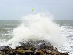Palavas-les-Flots (jc.d the cycling photographer) Tags: france languedocroussillonmidipyrénées languedoc hérault palavaslesflots palavas mer méditerranée sport ventfort tempête vagues