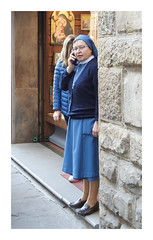There's more than one way to keep in touch with God! (The Stig 2009) Tags: fun candid woman nun street phone telephone mobile god religious firenze florence tuscany italy nikon
